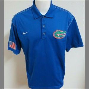 Sz XL Blue Nike Dri-Fit Mens Usa db Poly #A55 Polo